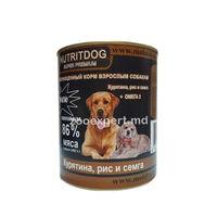 Nutritdog super premium (pui + orez + somon + Omega 3)