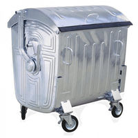 купить Бак мусорный 1100 л  оцинкованный - на колесах  EU 48117 в Кишинёве
