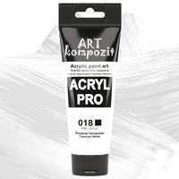 Краска акриловая Art Kompozit, (018) Белила титановые, 75 мл