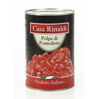 """Polpa di pomodoro"" Кусочки помидор в собственном соку. 400гр. Casa Rinaldi. ИТАЛИЯ"