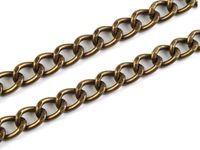 Handbag chain, 120 cm, vintage brass