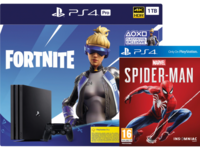 Game Console Sony PlayStation 4 Pro 1TB Black, 1 x Gamepad (Dualshock 4) + Fortnite + Marvel's Spider-Man