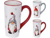 Чашка рождественская 600ml Гномы, керамика, 2 цвета