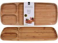 Блюдо-поднос для подачи 3секции, 39X16cm EH, деревянное