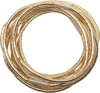 Elastic pentru par aurii, midi (10 buc) DEWAL RE042
