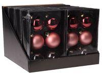 cumpără Set globuri 6X65mm, 2rosii, 2bordo, 2 roz deschis mate, 2violet transparente, in cutie în Chișinău