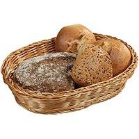 Корзина плетеная для хлеба овальная 33x25x7 см 17821