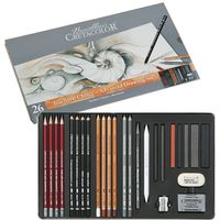 Set pentru grafică, 26 articole , Teachers choice Cretacolor