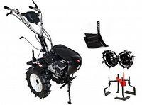 Набор мотоблок TECHNOWORKER HB 705.3.3.1 RS PRO + плуг регулируемый + металлические колеса 4*8 + мотыга