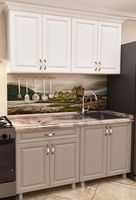 Кухонный гарнитур Bafimob Mini MDF 1.4m Cappuccino/White