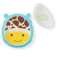 Набор Skip Hop Zoo Smart Тарелка и миска Жираф