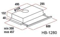 Вытяжка Hausberg HB-1280