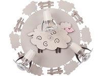 Светильник SHEEP 3л сер-коричн 4076