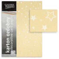 ARGO Картон GPAPIERU Stars A4, 220 г/м2, золотистый