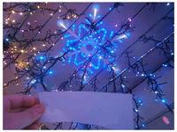 """купить Световая фигура """"Снежинка"""" 60cm 180LED, бел/синий цвет  в Кишинёве"""