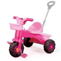 Трехколесный велосипед с род. ручкой, розовый, код  41499
