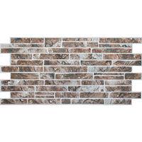 Влагостойкая панель камень сланец коричневый