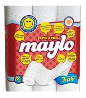 Полотенца бумажные MAYLO 3 слоя 11.3м*12