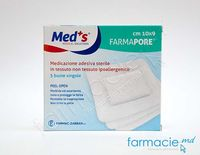 Pansament-emplastru steril 10x9cm N5 (Med'S) (1206321009M) (TVA 20 %)