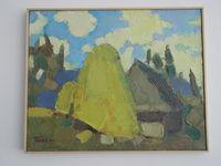 Дом в горах (Буковель), 40x50 см, холст, масло