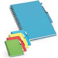 Тетрадь с ручкой ROTHFUSS B6, 160 л, пруж, линия голубая