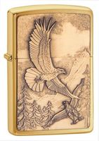 Zippo 20854 Eagle Emblem Brushed Brass