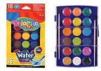 Акварельные  краски 18 цв + 2 кисточка Colorino