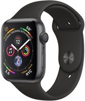 Apple Watch 4 44mm Space Grey Aluminum Case Black Sport Band