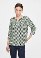Bluza Comma, Verde cu imprimeu
