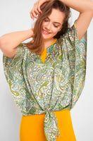 Блуза ORSAY Зеленый с принтом