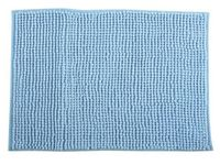Коврик для ванной комнаты 60X90cm Chenille голубой, микрофи