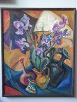 Натюрморт с цветами, 100x80 см, холст, масло