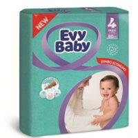 Evy Baby подгузники 4, 8-18кг. 80шт