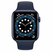 Apple Watch Series 6 GPS, 40mm Aluminum Case with Deep Navy Sport Band, MG143 GPS, Blue
