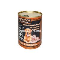 Nutritdog super premium (pui + orez + somon + Omega 3) 800 gr