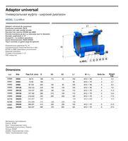 купить Адаптер фланцевый чугун для чугун/стальных труб DN250 - (242-268)  (шир.диап.)  PN10 WATO 12отв в Кишинёве