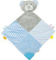 "Baby Mix STK-19421 ВB Игрушка-платок ""Мишка голубой"