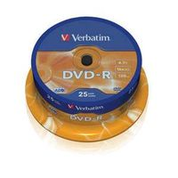 DVD-R 4,7Gb 16x Cake 25 pcs VERBATIM DVD-R 4,7GB 16x Cake 25 pcs