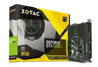 ZOTAC GeForce GTX 1050 Ti 4GB DDR5, 128bit, 1417/7008Mhz, Single Fan, HDCP, DVI, HDMI, DisplayPort, Lite Pack