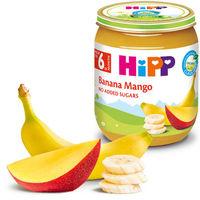Hipp пюре банан и манго, 4+мес. 125г