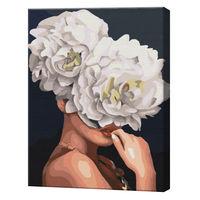Fantezie florală, 40х50 cm, pictură pe numere  BS35670