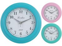 Часы настенные круглые D23cm, разных цветов