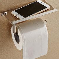 купить Держатель туалетной бумаги из нерж.стали с подставкой для телефона в Кишинёве