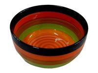 Salatiera 15cm dungi multicolore, din ceramica
