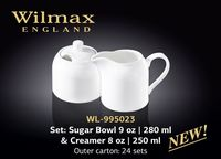 Сахарница и молочник WILMAX WL-995023 (набор 280 мл /250 мл)