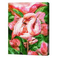 Flamingo în flori, 40х50 cm, pictură pe numere Articol: GX23743