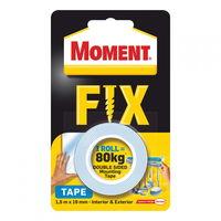 Скотч двухстор. 19mm x 1.5m Moment Fix Tape (80 кг)