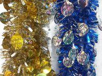 """купить Мишура елочная 2m с кругами """"Merry Christmas""""(2-х цветная) в Кишинёве"""
