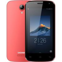 "Doogee X3, 4.5"" 854x480 5Mpix QuadCore 1.3GHz 1Gb 8Gb Red"