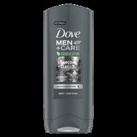 Gel de duş Dove Men Care Charcoal+Clay, 250 ml